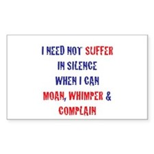 SUFFER IN SILENCE Rectangle Decal