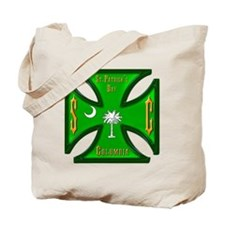 St. Pat's South Carolina Iron Cross Tote Bag