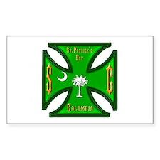 St. Pat's South Carolina Iron Cross Decal