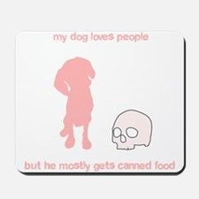 Your adorable maneating dog Mousepad