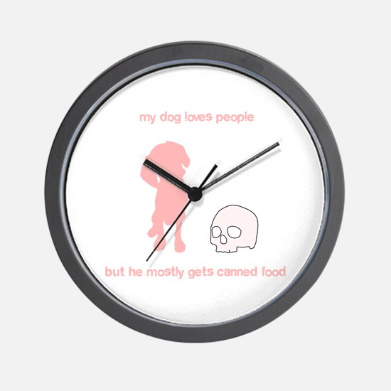 Your adorable maneating dog Wall Clock