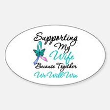 Lymphoma Support (Aunt) Oval Decal