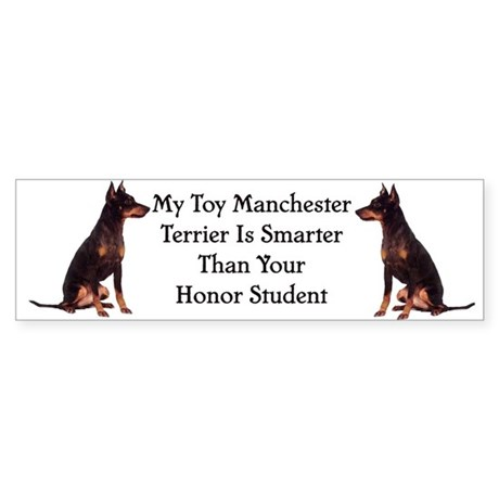 Toy Manchester Honor student Bumper Sticker