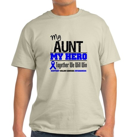 ColonCancerHero Aunt Light T-Shirt