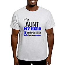 ColonCancerHero Aunt T-Shirt
