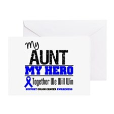 ColonCancerHero Aunt Greeting Card