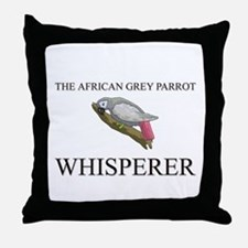 The African Grey Parrot Whisperer Throw Pillow