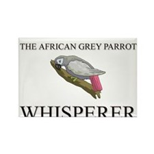 The African Grey Parrot Whisperer Rectangle Magnet