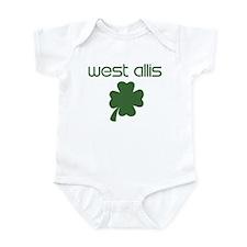 West Allis shamrock Infant Bodysuit