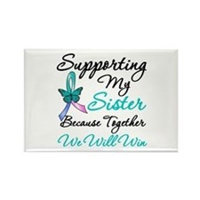 Thyroid Cancer Sister Rectangle Magnet