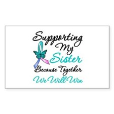 Thyroid Cancer Sister Rectangle Decal