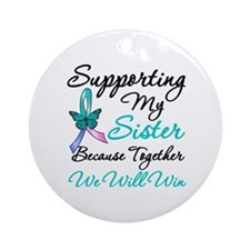 Thyroid Cancer Sister Ornament (Round)