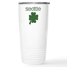 Seattle shamrock Travel Mug