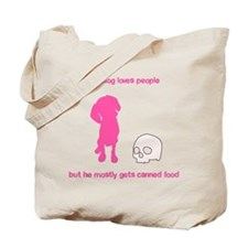 Your adorable maneating dog Tote Bag