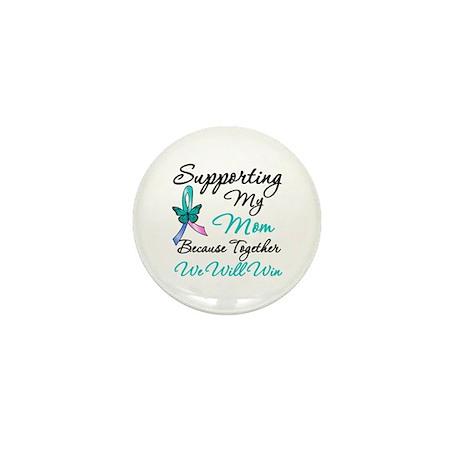 Thyroid Cancer Mom Mini Button (100 pack)