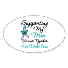 Thyroid Cancer Mom Oval Decal