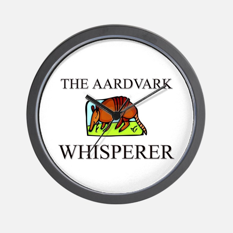 The Aardvark Whisperer Wall Clock