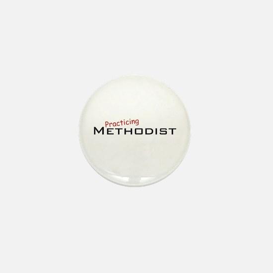 Practicing Methodist Mini Button