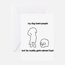 Your adorable maneating dog Greeting Cards (Pk of