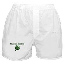 Rhode Island shamrock Boxer Shorts