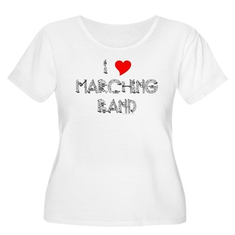 I Love Marching Band Women's Plus Size Scoop Neck