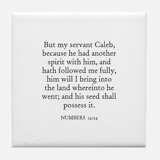 NUMBERS  14:24 Tile Coaster