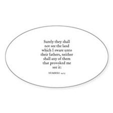 NUMBERS 14:23 Oval Decal
