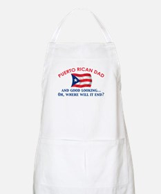 Good Looking Puerto Rican Dad BBQ Apron