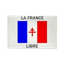 Free France Rectangle Magnet
