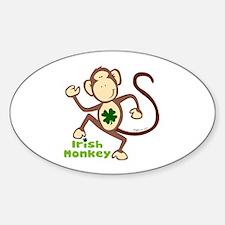 Shamrock Irish Monkey Oval Decal