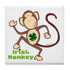 Shamrock Irish Monkey Tile Coaster