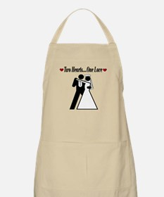 Two Hearts BBQ Apron