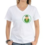 Funny Irish Leprechaun Women's V-Neck T-Shirt