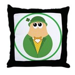 Funny Irish Leprechaun Throw Pillow