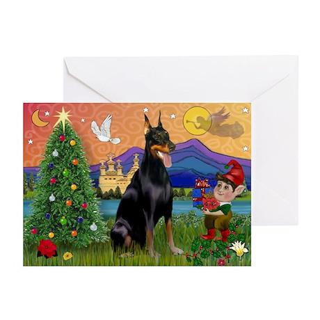 Dobie Xmas Fantasy Greeting Cards (Pk of 10)