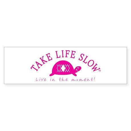 TLS Pink Turtle, Bumper Sticker