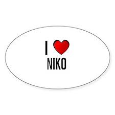 I LOVE NIKO Oval Decal