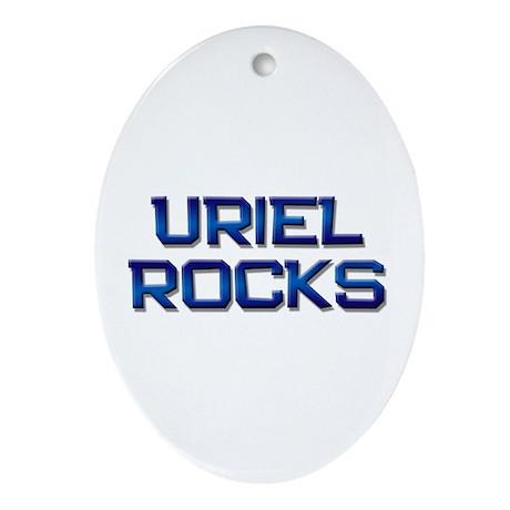 uriel rocks Oval Ornament