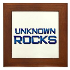 unknown rocks Framed Tile
