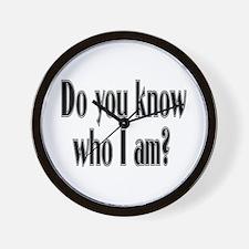 Do You Know Who I Am? Wall Clock