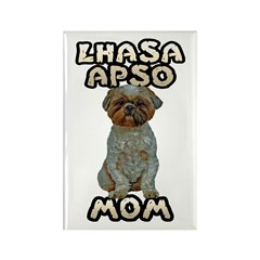 Lhasa Apso Mom Rectangle Magnet