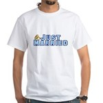 Just Married White T-Shirt