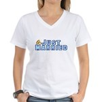 Just Married Women's V-Neck T-Shirt