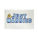 Just Married Rectangle Magnet (10 pack)