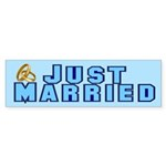 Just Married Bumper Sticker (50 pk)