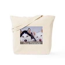 Funny Siberian husky rescue Tote Bag