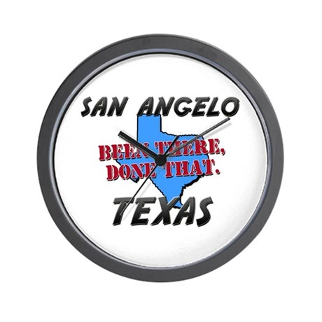 san angelo texas - been there, done that Wall Cloc