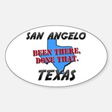 san angelo texas - been there, done that Decal