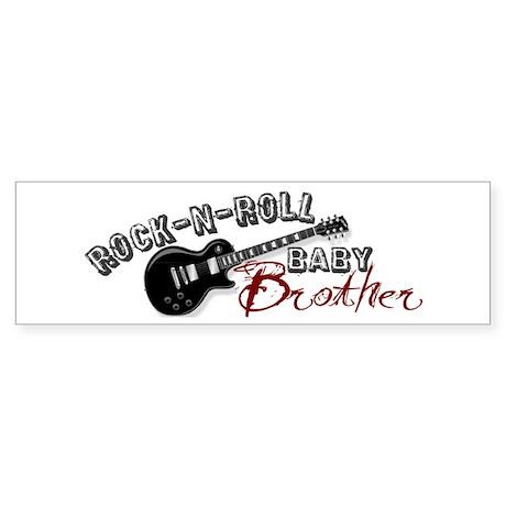 Rock-n-Roll Baby Brother Bumper Sticker