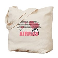 Unique Airman's girlfriend Tote Bag